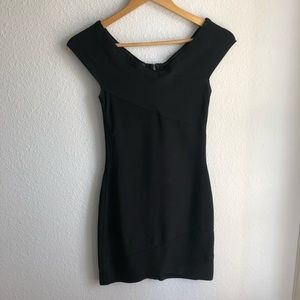 Marciano black bandage dress